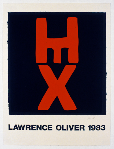 Lawrence Oliver exhibition poster