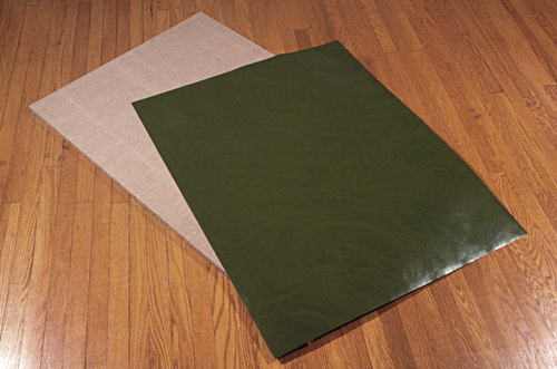 Green paper dropped on raw linen (view 1,1992-95)